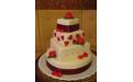 ESK2085 -  erre az esküvői torta kódra hivatkozzon!