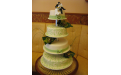 ESK2058 -  erre az esküvői torta kódra hivatkozzon!
