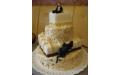 ESK2038 -  erre az esküvői torta kódra hivatkozzon!