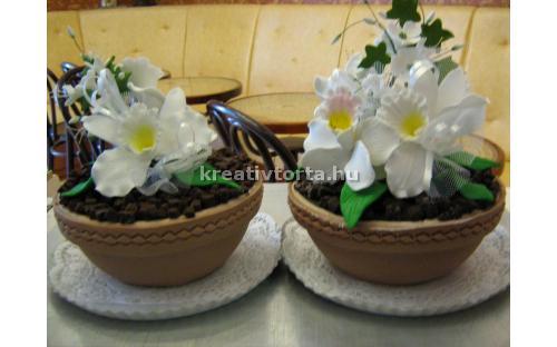 Virágcserép torta ALK2015 - erre az alkalmi torta kódra hivatkozzon! Telefon: +36 1 318 8315