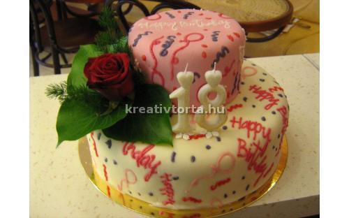 Tizennyolcadik szülinapi torta ALK2030 - erre az alkalmi torta kódra hivatkozzon! Telefon: +36 1 318 8315