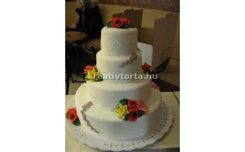 ESK2075 -  erre az esküvői torta kódra hivatkozzon!
