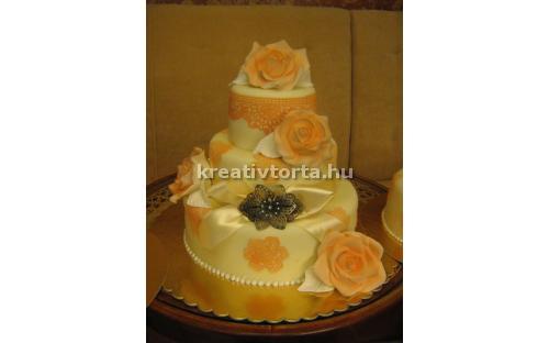 ESK2076 -  erre az esküvői torta kódra hivatkozzon!