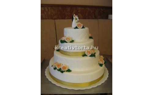 ESK2078 -  erre az esküvői torta kódra hivatkozzon!
