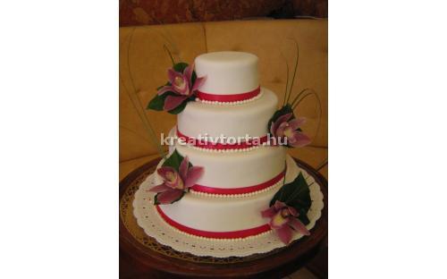 ESK2081 -  erre az esküvői torta kódra hivatkozzon!