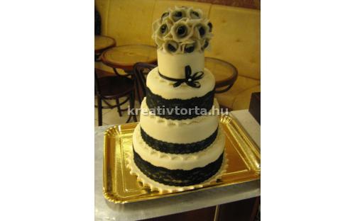 ESK2087 -  erre az esküvői torta kódra hivatkozzon!