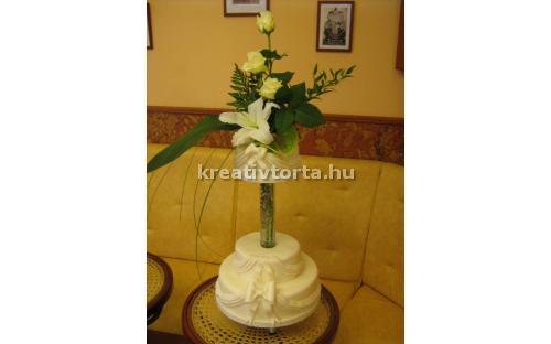 ESK2057 -  erre az esküvői torta kódra hivatkozzon!