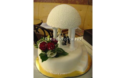 ESK2060 -  erre az esküvői torta kódra hivatkozzon!