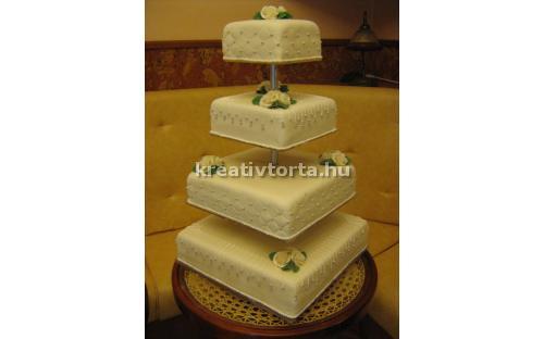 ESK2052 -  erre az esküvői torta kódra hivatkozzon!