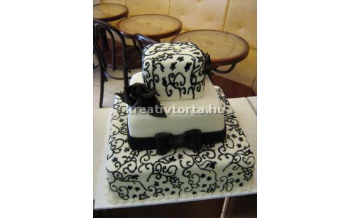 ESK2037 -  erre az esküvői torta kódra hivatkozzon!