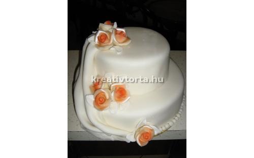 ESK2041 -  erre az esküvői torta kódra hivatkozzon!