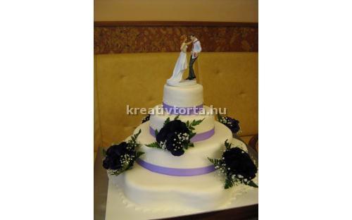 ESK2036 -  erre az esküvői torta kódra hivatkozzon!