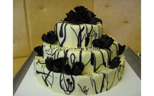 ESK2029 -  erre az esküvői torta kódra hivatkozzon!