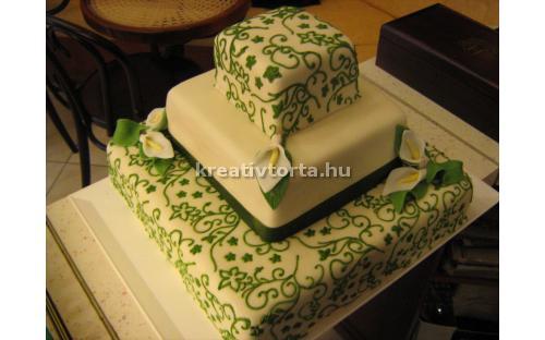 ESK2056 -  erre az esküvői torta kódra hivatkozzon!
